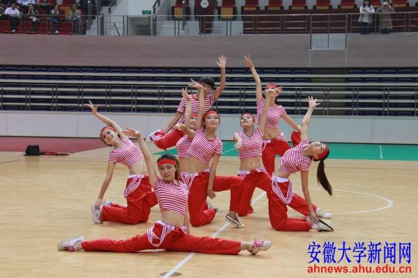 2013安徽大学健美操比赛舞动磬苑